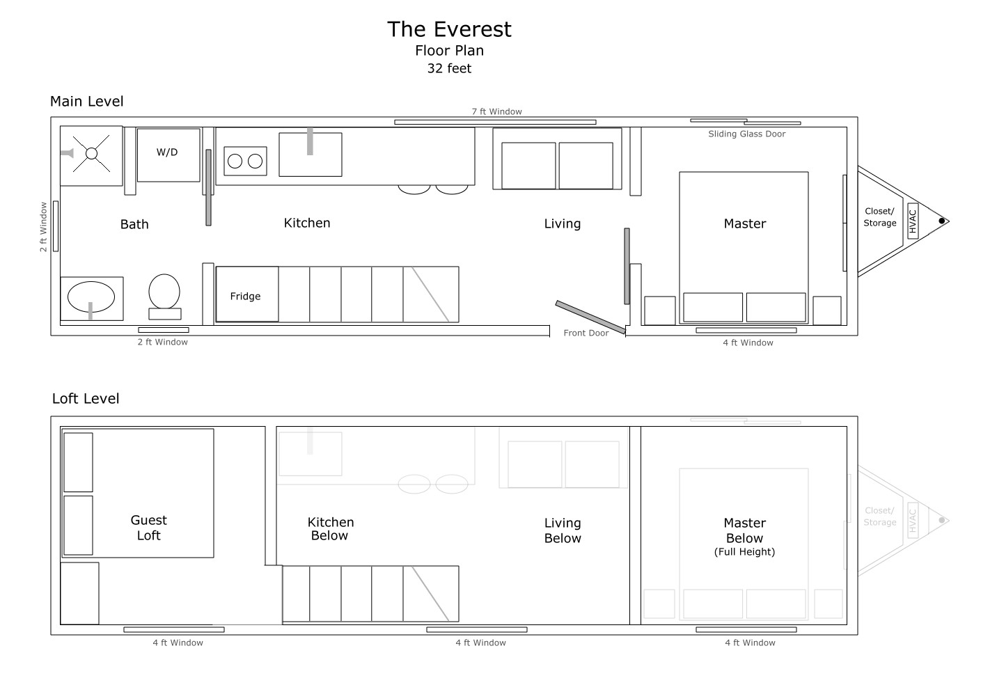 The Everest Tiny House Floor Plan
