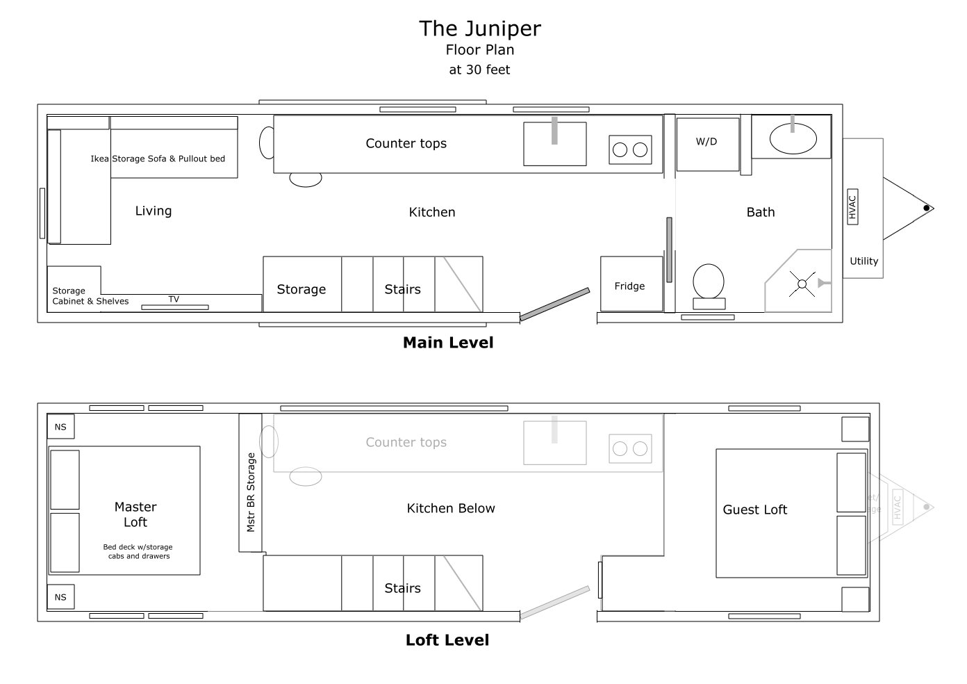 The Juniper Tiny House Floor Plan