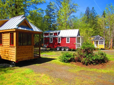 tiny house community at Mustard Seed Tiny Homes