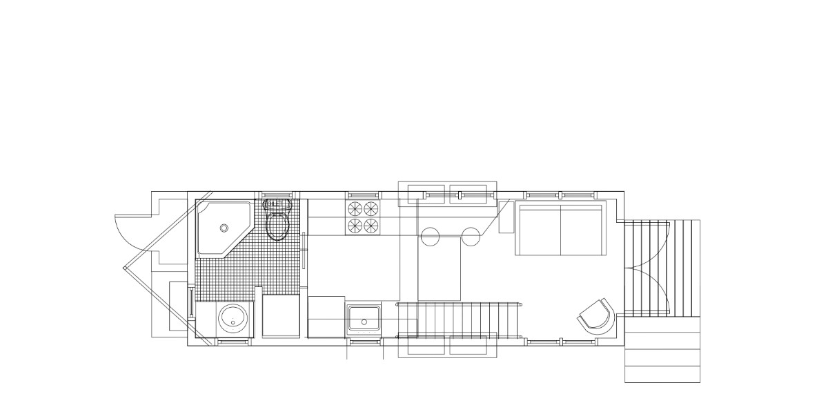 The Sprout Tiny House Floor Plan