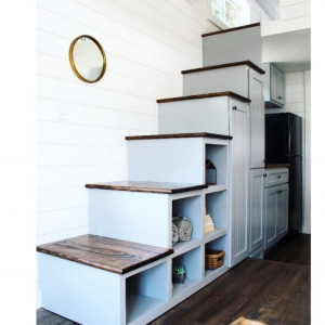 The Sprout from Mustard Seed Tiny Homes - staircase view