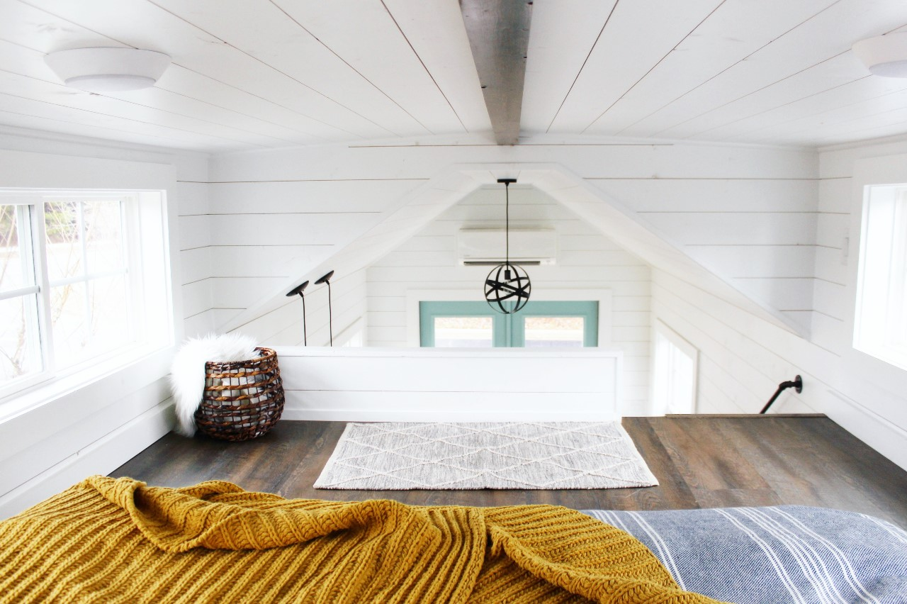 The Sprout from Mustard Seed Tiny Homes - loft view