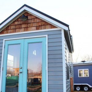 The Sprout from Mustard Seed Tiny Homes - outside entry view