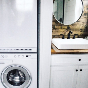 The Sprout from Mustard Seed Tiny Homes - bath and utility view