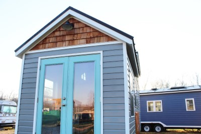 Community living with The Sprout tiny house from Mustard Seed Tiny Homes