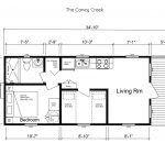 The Caney Creek Park Model Tiny House floor plan - Mustard Seed Tiny Homes