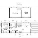 The Grand Park Model Tiny House floor plan - Mustard Seed Tiny Homes