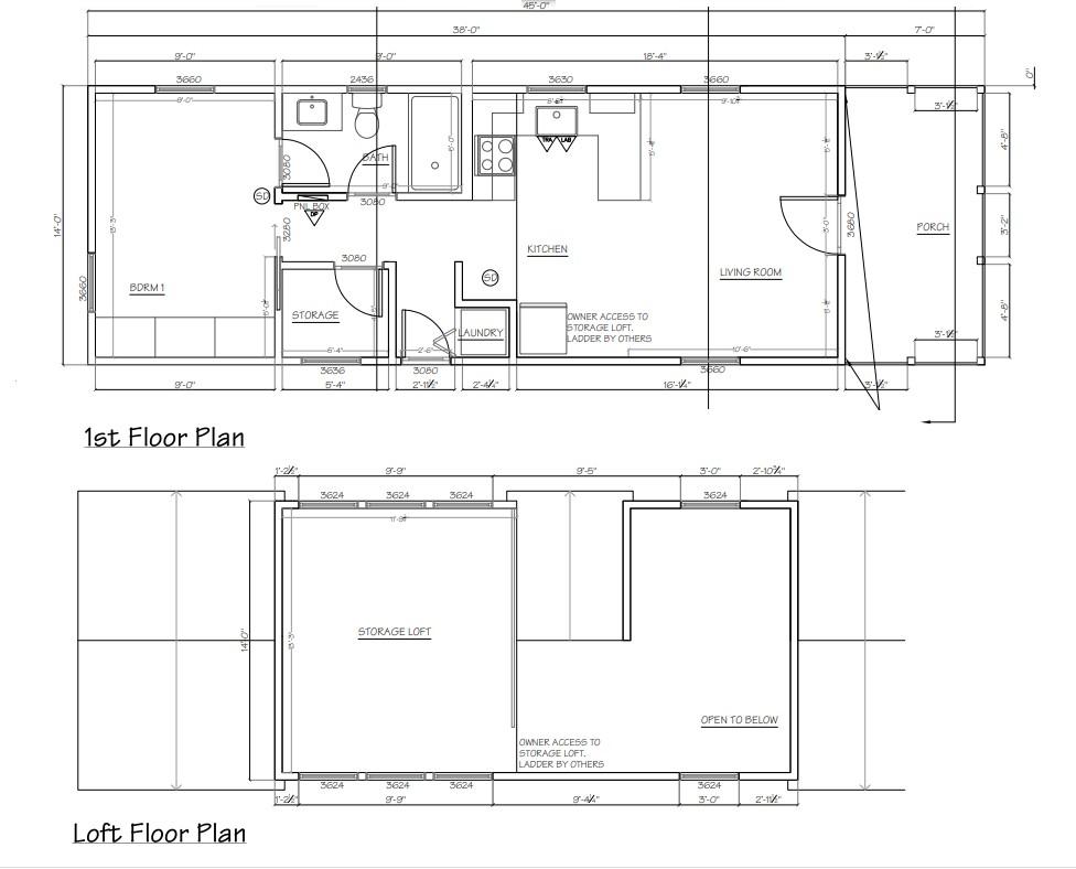 The Harvest Modular Tiny Home Floor Plan