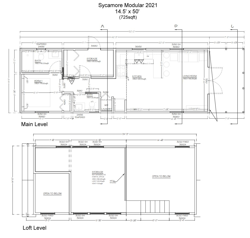 The 2021 Sycamore Modular Tiny House - Floor Plan