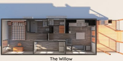 The Willow Tiny House Floor Plan from Mustard Seed Tiny Homes