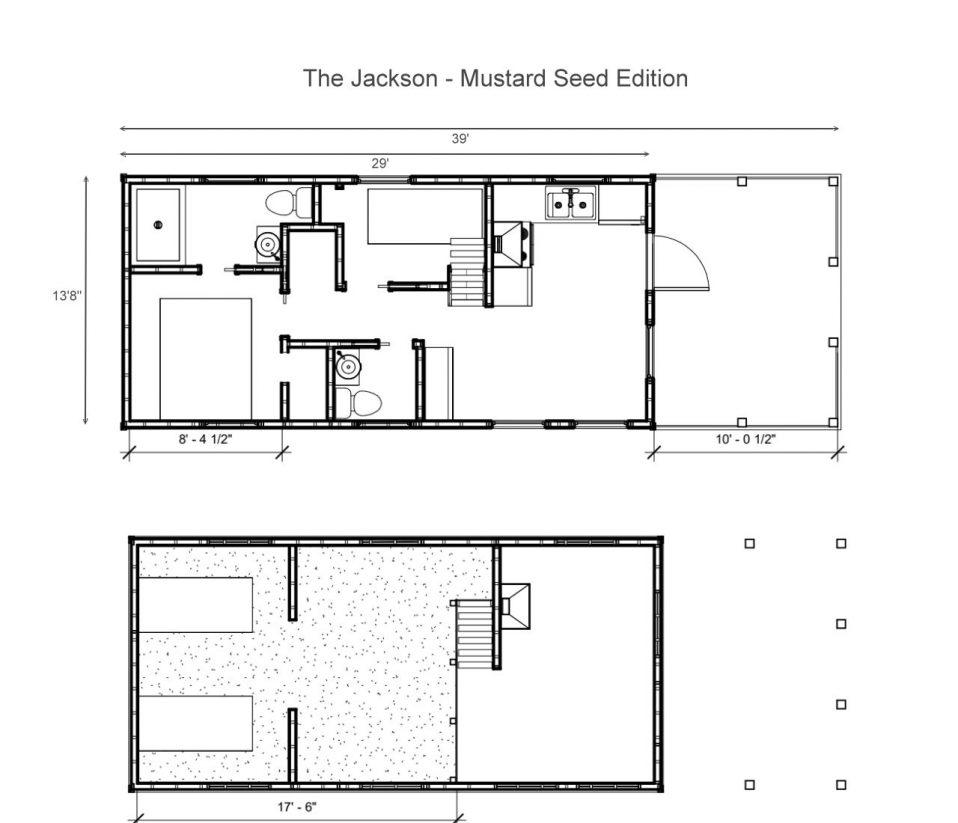 The Jackson Floor Plan - Mustard Seed Edition